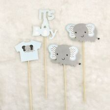 It's A Boy Cake Topper  Elephant Cake Flag Kid Birthday Party Baking Decor NE8Z