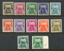 FRANCE 1946-53 POSTAGE DUE MNH Set to 100F 12 Stamps Scott $133