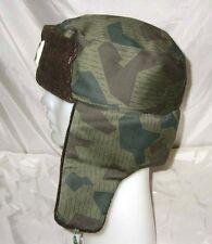 Original camouflage USHANKA combat winter hat cap, Bulgarian communist army, NU