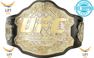 UFC ULTIMATE FIGHTING CHAMPIONSHIP TITLE REPLICA BELT 2MM Brass Dual Plate Adult