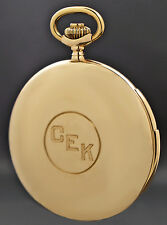 Rare Vulcain Solid 18K Yellow Gold Quarter Hour Repeater Pocket Watch All Orig.