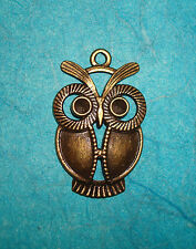 Pendant Owl Charm Bronze Animal Charm Birds Hoot Owl Wings Charms Feathers
