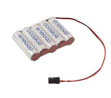 Panasonic Eneloop récepteur Batterie 6v plat AA 2000mah GRAUPNER CONNECTEUR