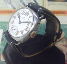 EXTRA RARE 1915 Omega 15J Trench Watch Fahys STERLING Silver Case- Ufix! L@@K!