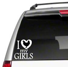 "I Love My Girls hens chickens 6"" Car Vinyl Sticker Decal farm ranch poultry E39*"