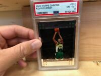 2007-08 Topps Chrome #131 Kevin Durant Supersonics RC Rookie (PSA 8)