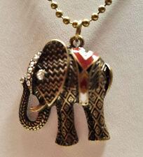 Elephant pendant and chain