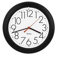 Westclox Ventura Wall Clock, Black