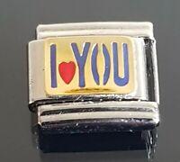 I Heart You Italian Charm Bracelet Link Charms