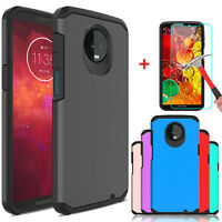For Motorola Moto Z3 / Z3 Play Shockproof Armor Case Cover With Screen Protector