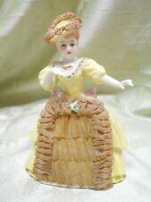 Vintage Porcelain Lace Dress & Hat Dainty Lady Figurine