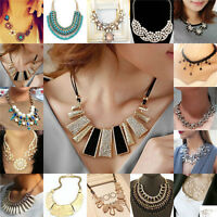 Jewelry Charm Bib Statement Chunky Choker Chain Crystal Pendant Necklace Lot