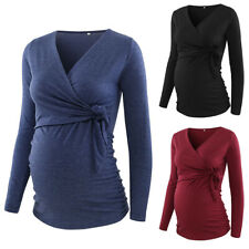 ❤️Women Maternity Nursing Top Pregnancy Long Sleeve Blouse Breastfeeding T-shirt