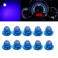 10Pcs T4.7 Blue Neo Wedge LED Bulb Dash Climate Control Instrument Base Light G
