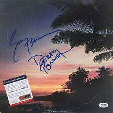 AMERICA Band Signed HARBOR Vinyl LP RECORD Album Dewey Bunnell GERRY BECKLEY PSA