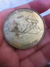 1903 KITTY HAWK NC WRIGHT BROTHERS 1ST AIRPLANE Aviation MEDAL/COIN vintage