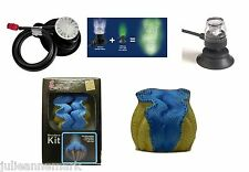 Underwater aquarium bleu clam + led bleu & air bubble maker kit complet