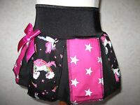 unicorns rainbow Skirt Baby Girls Black pink stars pleated party Gift Princess