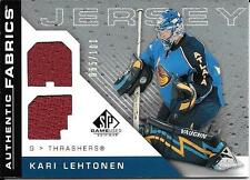 07/08 SP Game Used Authentic Fabrics Rainbow Kari Lehtonen Dual Jersey #065/100