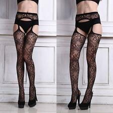 Womens Sexy Lingerie Racy Net Stockings Lady Lace Thigh-highs Pantyhose New