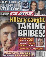 Globe Tabloid Magazine Hillary Clinton Barack Obama Priscilla Presley Tom Jones