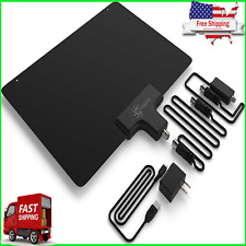 NEW HDTV Antenna LT Fox HD TV Bandit 50 Miles Amplifier XL Coax Amplified