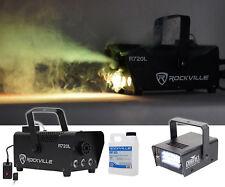 Rockville R720L LED Fog/Smoke Machine w/Remote+MINI STROBE LED (replaces CH-730)
