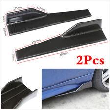 2pcs Anti-Scratch Car Side Skirt Spoiler Diffuser Splitter Canard Carbon Fiber