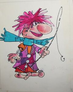VINTAGE FAIRY TALE CHILDS BOOK DESIGN GOUACHE PAINTING