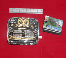Fibbia belt buckle in metallo Dodge Rodeo Ram Truck Montana Silversmits 2009