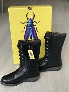 Fly London Women's Ster768fly Boots Lace Up Black UK 7, Eu 40 BRAND NEW WITH BOX