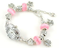 Watch Style Charm Bracelet Fit European Bead 20cm WN010