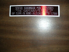 STEVE YZERMAN NAMEPLATE FOR AUTOGRAPHED PUCK/JERSEY CASE/PHOTO