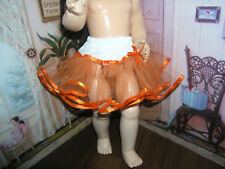 """Orange Net Petticoat  22-23"""" Doll clothes fits Ideal Saucy Walker or Pedigree"""