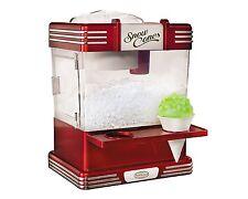 Nostalgia RSM602 Retro Series Snow Cone Maker & Shaved Ice Storage In Red New
