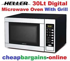 HELLER 30L DIGITAL MICROWAVE OVEN WITH GRILL 1000W MULTI FUNCTION CONTROL PANEL