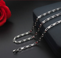 dünne Silberkette 2MM Halskette 60cm lang Edelstahl Venezianerkette Herren Damen