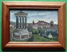 Calton Hill Edinburgh : Original Framed Impressionist Oil Painting David Baxter