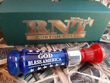 RNT Rich-N-Tone Patriotic MONDO 'GOD Bless America' Duck Mallard Call Custom NEW