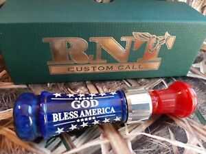 RNT Rich-N-Tone Patriotic MONDO 'GOD Bless America' Duck Mallard Call Custom NEW