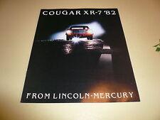 1982 Mercury Cougar XR-7 Sales Brochure - Vintage