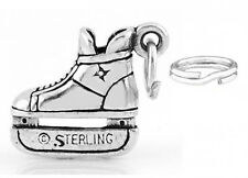 "STERLING  SILVER ""HOCKEY PLAYER'S ICE SKATE"" CHARM WITH ONE SPLIT RING"