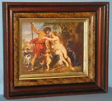 ANTIQUE WALNUT EASTLAKE 3-PART FRAME STIPPLED COVE RUBENS VENUS & ADONIS