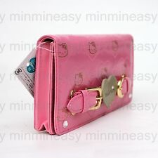 Pink Hello Kitty Crystal Clutch Sequin Luxury Coins Bag Case Long Zipper Wallet