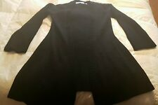 NWOT Black 100% Cashmere Kaufmanfranco Sweater Coat Cardigan S