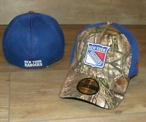 New York Rangers Realtree Camo 39Thirty Mesh Back Flex Fitted Hat Cap Men's M/L