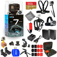 GoPro HERO7 HERO 7 Action Camera (Black) Pro Accessory Kit W/ Extra Batteries