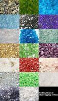 1kg Glass Chippings Home Garden  Wedding Aquarium Memorial Craft 16 Colours