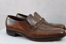 Men's Vintage Florsheim Casual Dress Brown Leather slip on Loafers Shoe Size 11