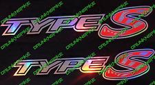 HONDA CIVIC TYPE S VTEC Rising Sun Oil Slick Côté Jupe stickers